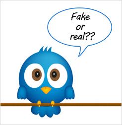 Seguidores de Twitter reales o falsos